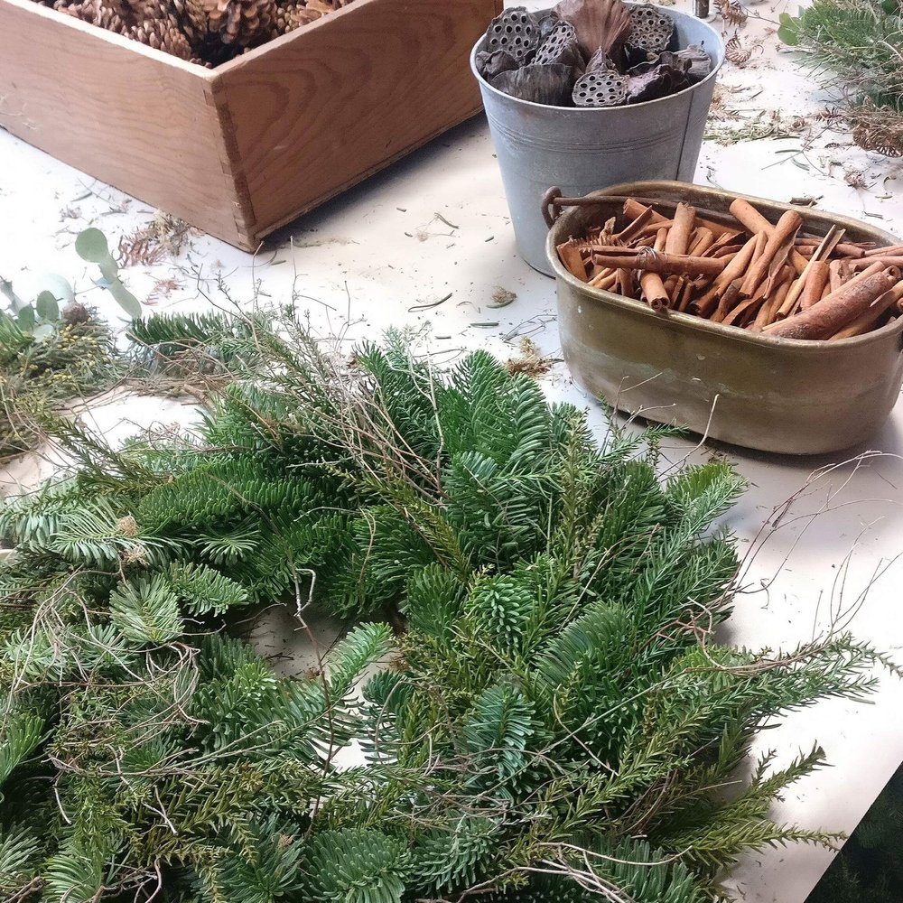 Christmas Wreath Workshop - Create your own stunning festive door wreath.For more info please click here