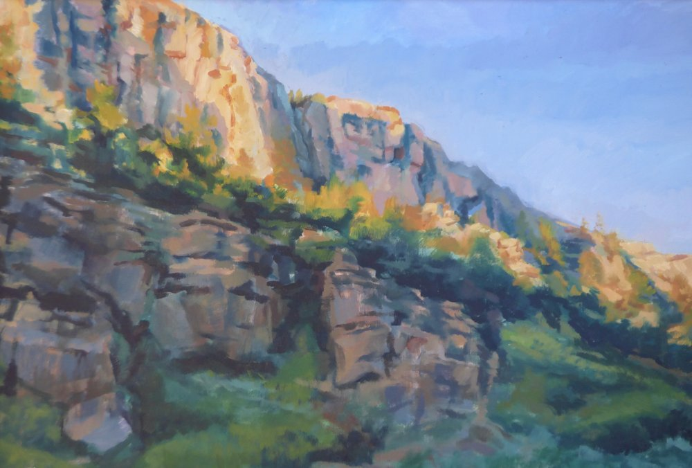 """Rosebud Canyon""  My subjects were always landscapes.  Big sky is not just a nickname for Montana but an emotional experience."