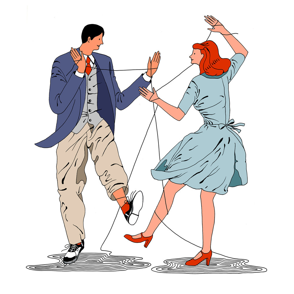 Illustrations based on articles in NYtimes column MODERN LOVE