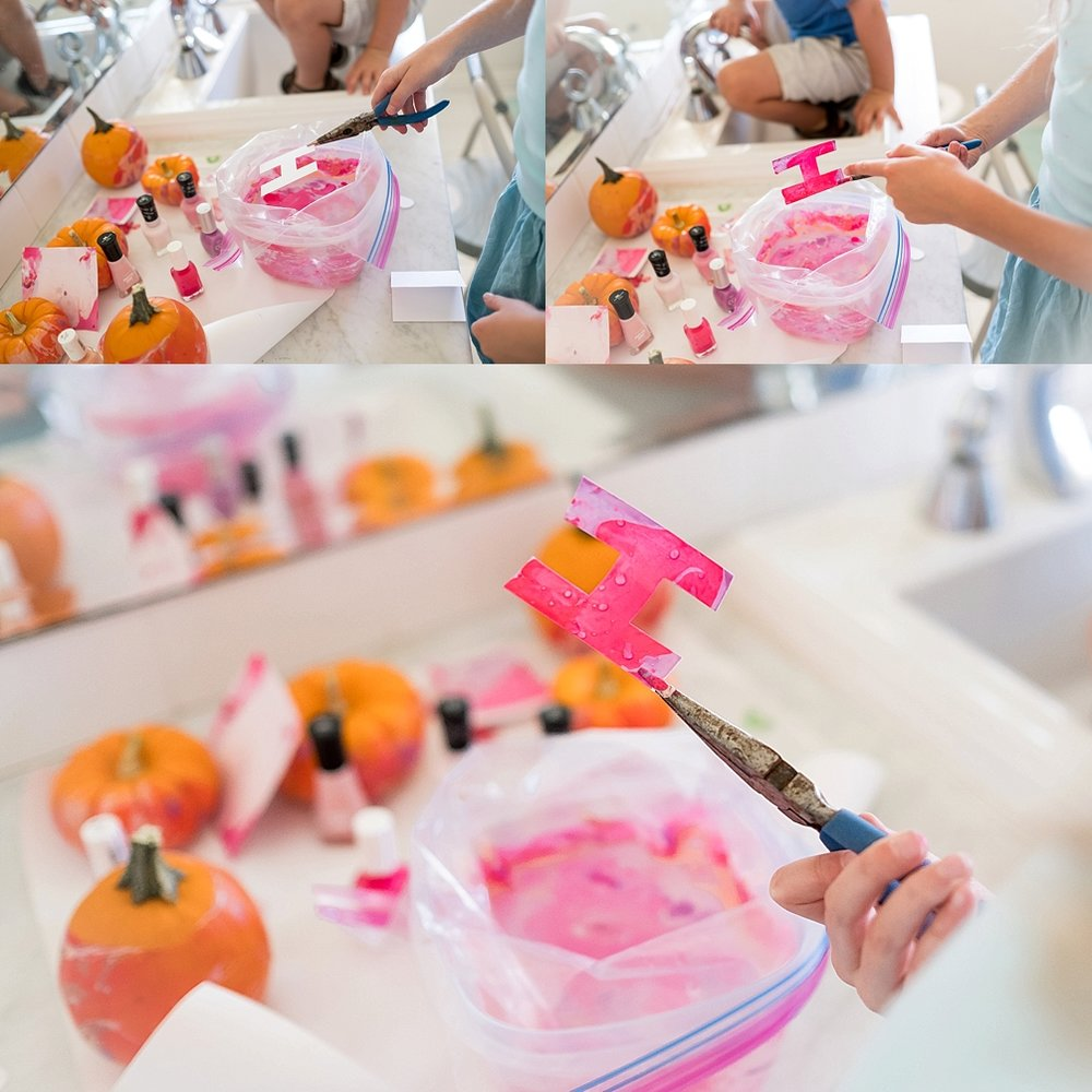 How to marble pumpkins and paper. A light and airy lifestyle photo session by Erica Faith Photography in Claremont, CA