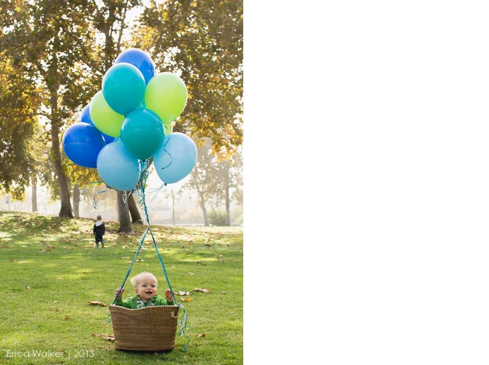 First Birthday Hot Air Balloons - Erica Faith Photography
