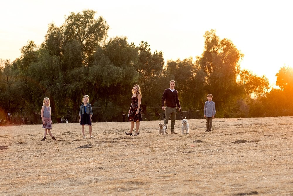 Family Pictures with their dogs at such a pretty outdoor location in San Dimas.