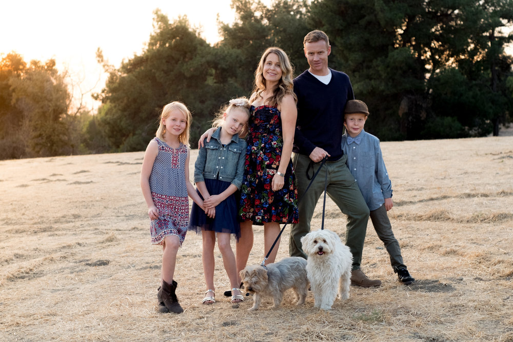 Family pictures and cute dogs in San Dimas!