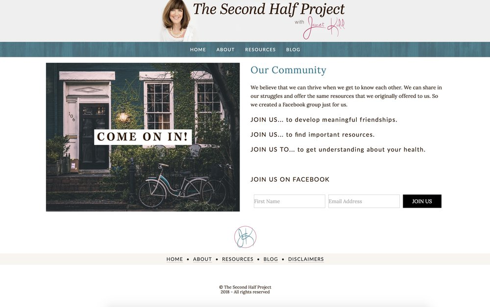 Custom website design by Erica Walker