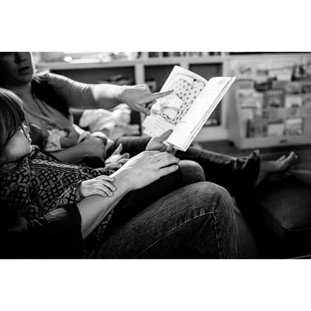 The simplest of activities are the most perfect ones for an in-home documentary photo session. My hope is to capture the priceless connections between you and those you love. What better way to do that than chillin' at home on daddy's lap with Dr. Seuss?