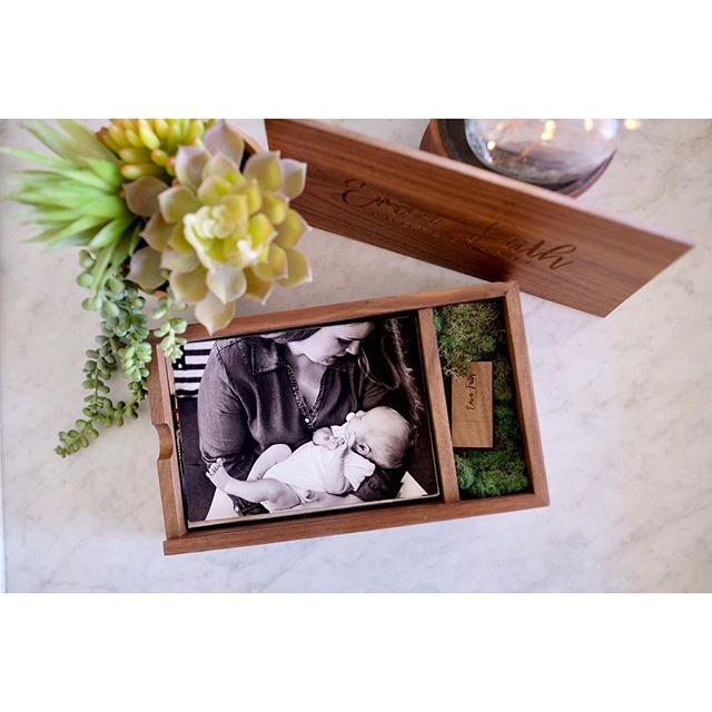 I love creating actual tangible prints for my clients! This walnut box is full of the softest 100% cotton archival fine art prints I've held! I hope my sweet clients love them as much as I do.  #printmatters #claremontphotographer  #lifestylephotographer  #claremontnewbornphotographer