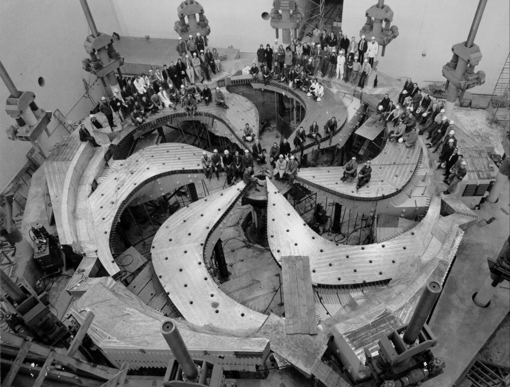 World's largest magnet under construction at TRIUMF, Vancouver, Canada.