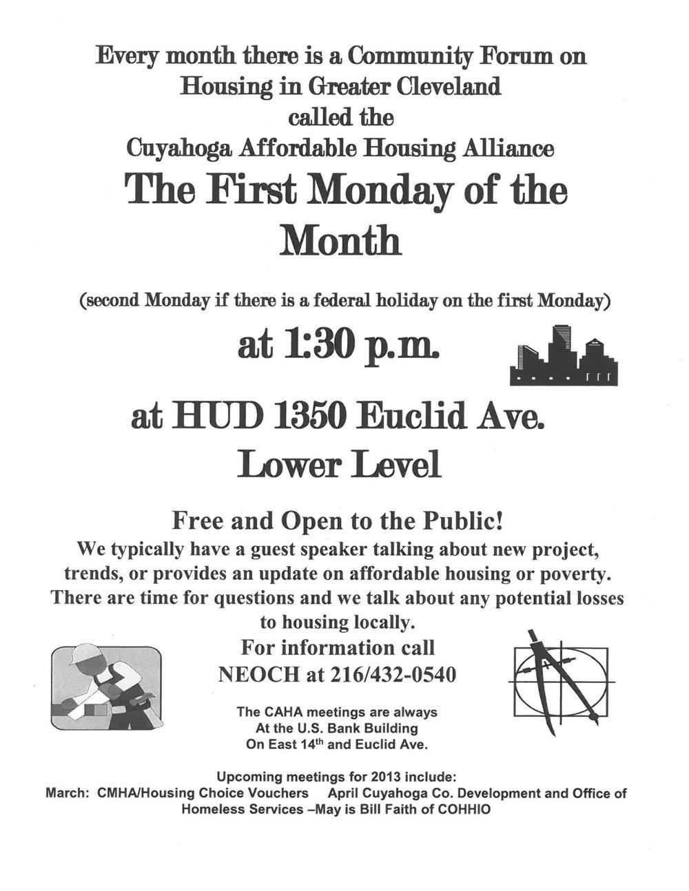 CAHA — Cleveland Homeless Blog — Northeast Ohio Coalition for the