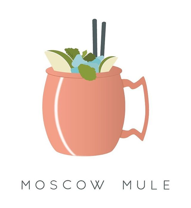 Finally Friday. . . #chicago #chicagodesigner #graphicdesign #graphicdesigner #vector #vectorart #vectorillustration #illustration #illustrator #adobe #adobeillustrator #drinks #drinking #vodka #moscowmule #booze #friday #weekend #summer #summertimechi