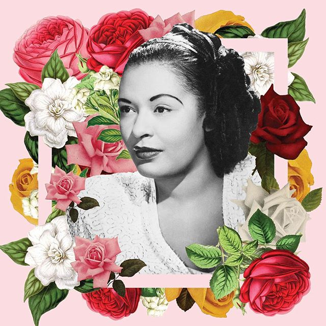 A bit of #photoshop fun for my latest @saicace course. Another student was generous enough to buy a printed version so my work feels validated. 😂 . . #graphicdesign #graphicdesigner #chicago #chicagodesigner #photoediting #vintage #floral #flowers #billieholiday #audreyhepburn #fridakahlo #classic #photocomposition #letsgetthisbread #badasswomen #women #feminist #adobe #saic @photoshop