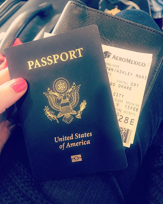 It may have taken nearly 30 years, but excited to use my passport for the first time. Here's to many more years of seeing the world! . . #travel #passport #travelling #mexico #firsttimeabroad #chicago #playadelcarmen #yay #flying #aeromexico #ohareairport