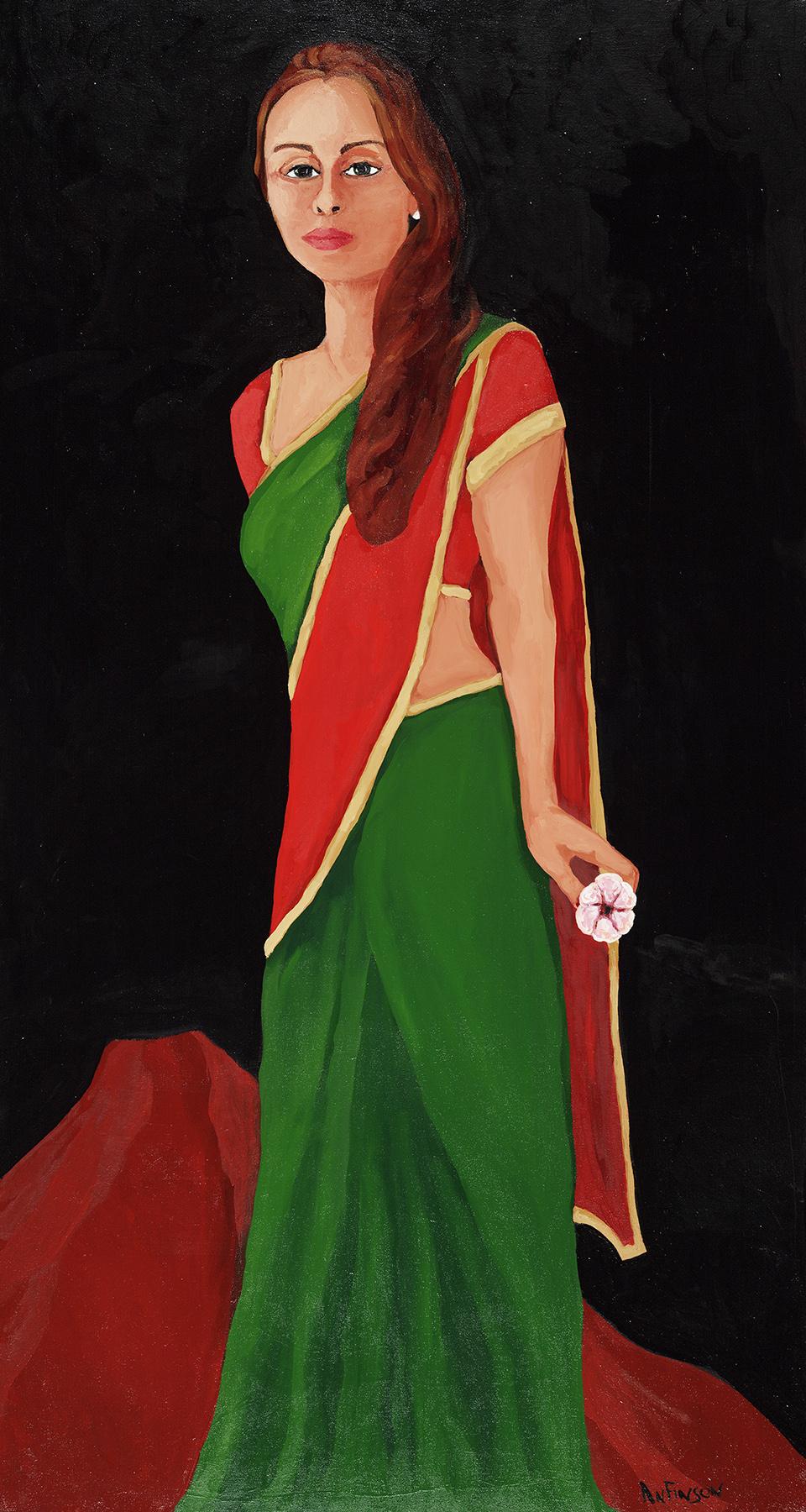 sari woman  sold 60 x 36 2010