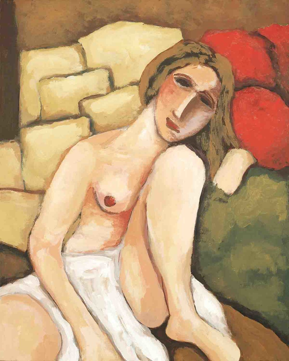 nude with gold pillows  20 x 16 2015