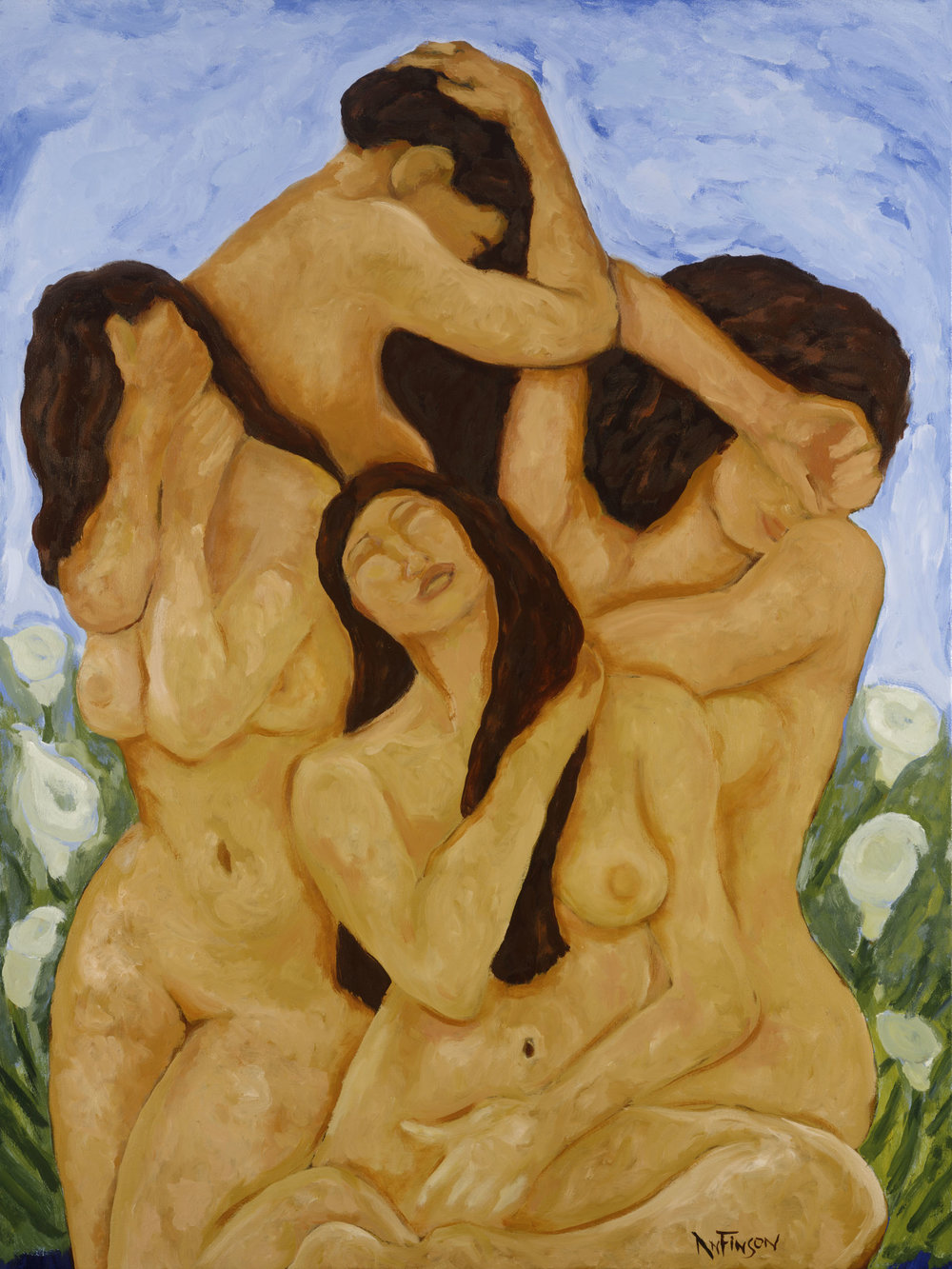 the bathers  $6600.00  48 x 36 2014