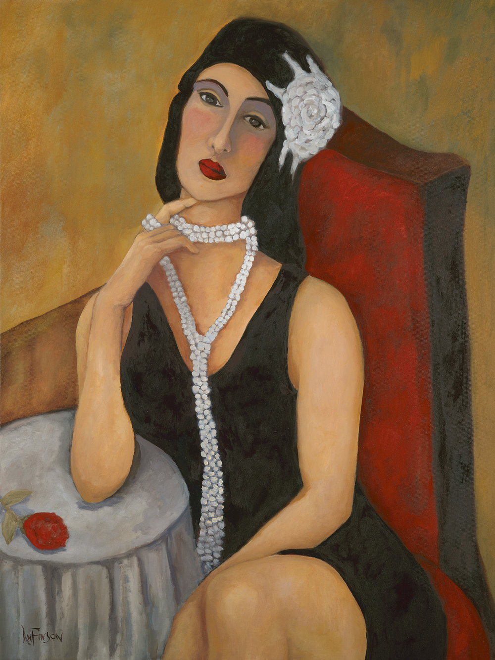 flapper girl   sold 40 x 30 2014