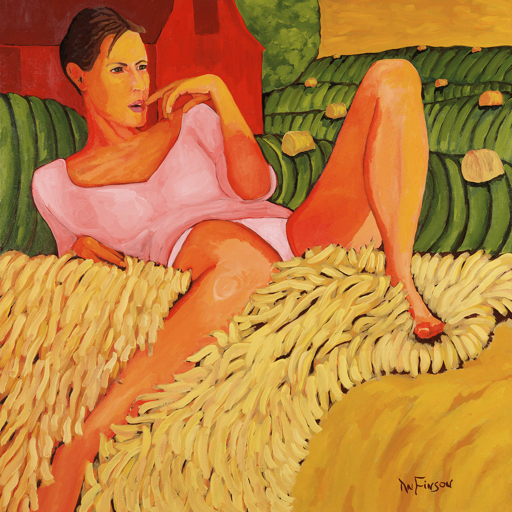 on the haystack  $4800.00  40 x 40 2013