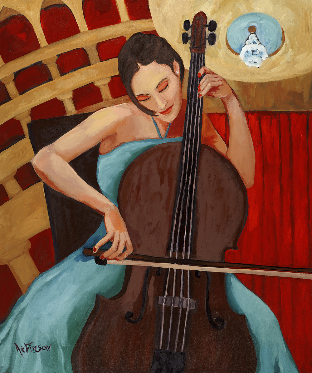 cellist  sold 48 x 36 2014