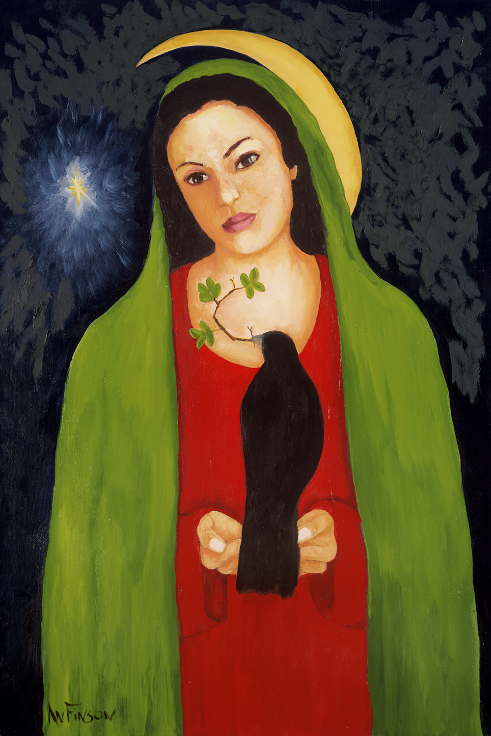 mother mary  commission 36 x 24 2014