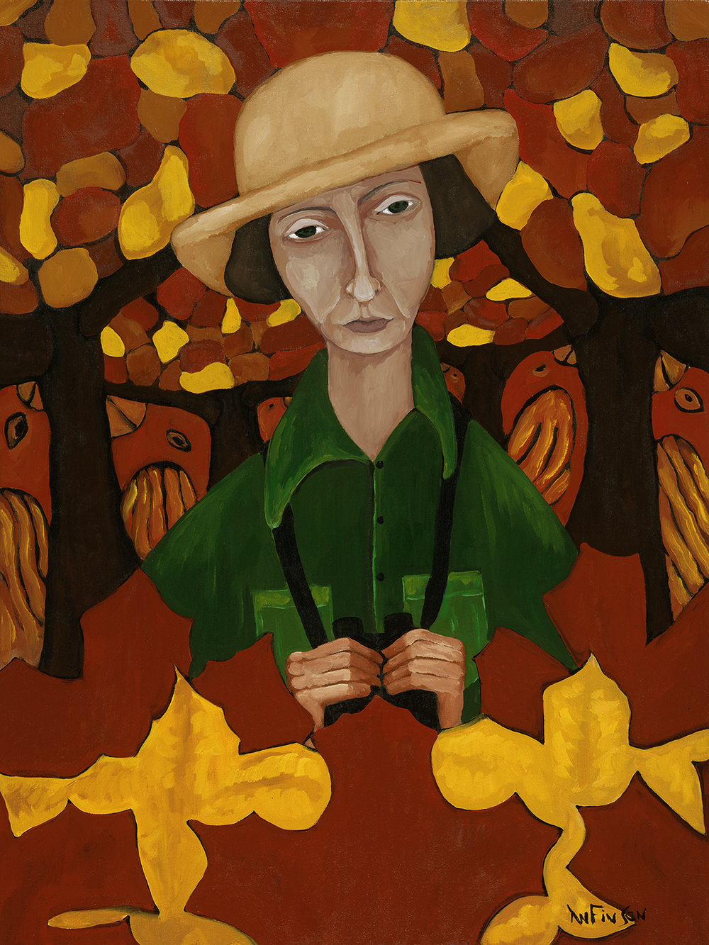 the birder  sold 40 x 30 2013
