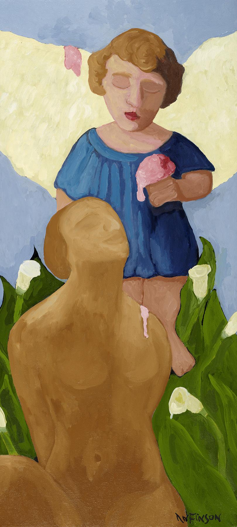 angels & ice cream  $3000.00  30 x 18 2012