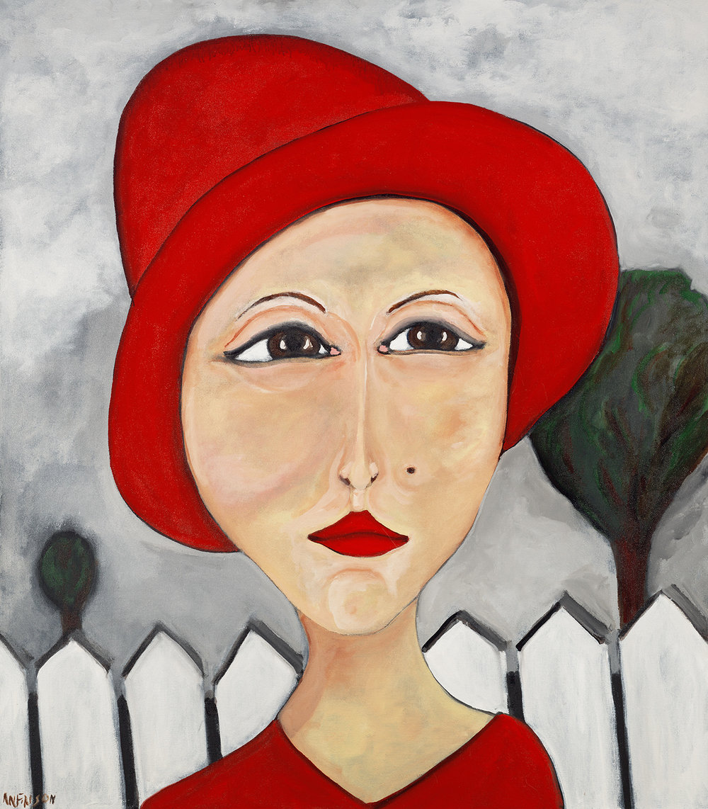 the red hat  sold 48 x 40 2007