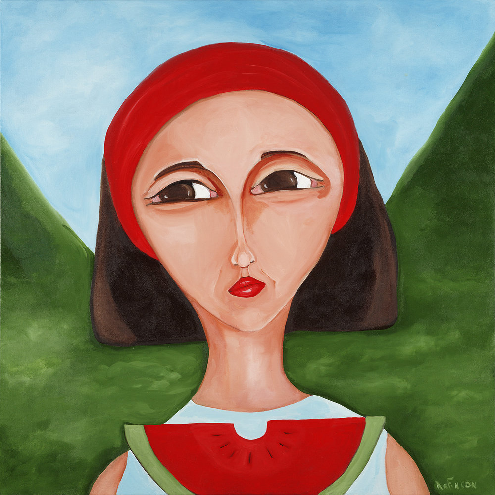 watermelon mom  40 x 40 2007