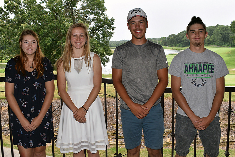 $5,100 in scholarships were awarded to seven students going into the trades on July 19th, 2018. L to R scholarship recipients - Sadie Newbury, Morgan Vander Heiden, Jaeger Brusky, & Jason Claybaugh. Not pictured - Alex Doering, Ethan Tews, and Ryan Smit.