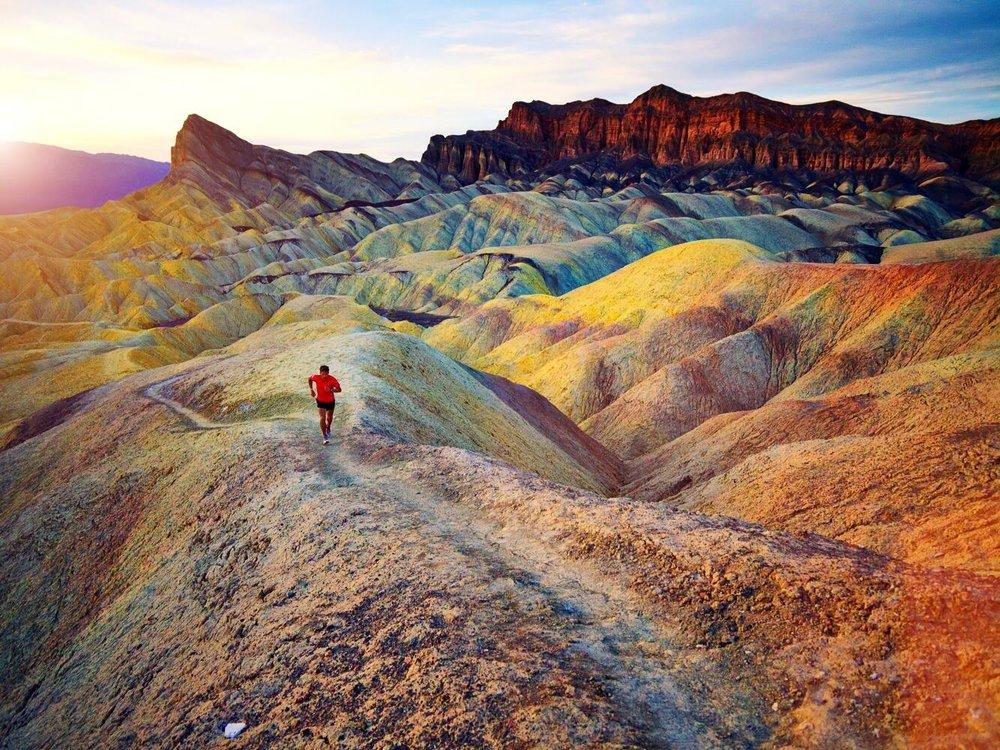 Dean running through the mountains of Kazakhstan during his previous Envoy!