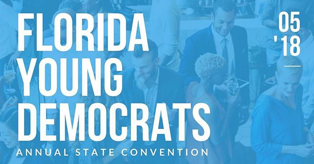 We're less than a month away from our annual state convention in Miami! Link to register is in our bio • • •  #flyoungdems #bluewave #democrats #flpol #FYDBlueWave18🌊