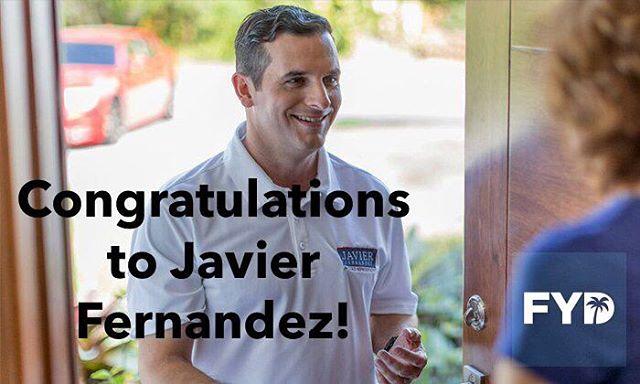 Congratulations to State Representative-Elect, Javier Fernandez!