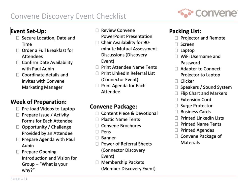 discovery-event-checklist