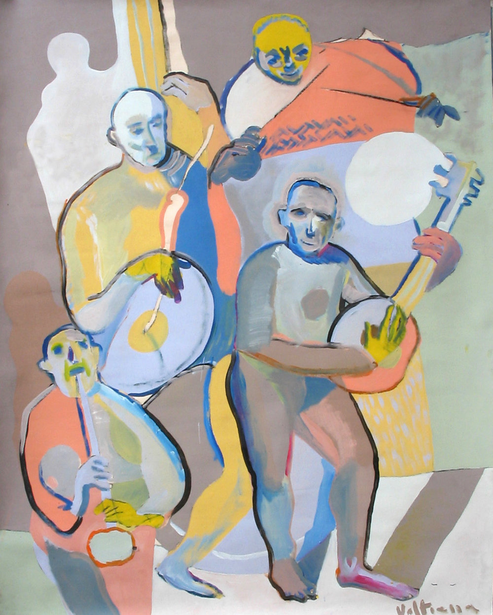 """Musicians"" 2004   Acrylic on canvas"