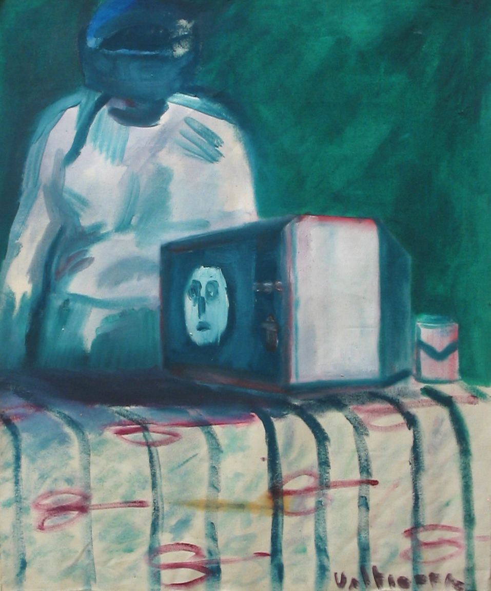 """Hades TV"" 2005   Acrylic on canvas"
