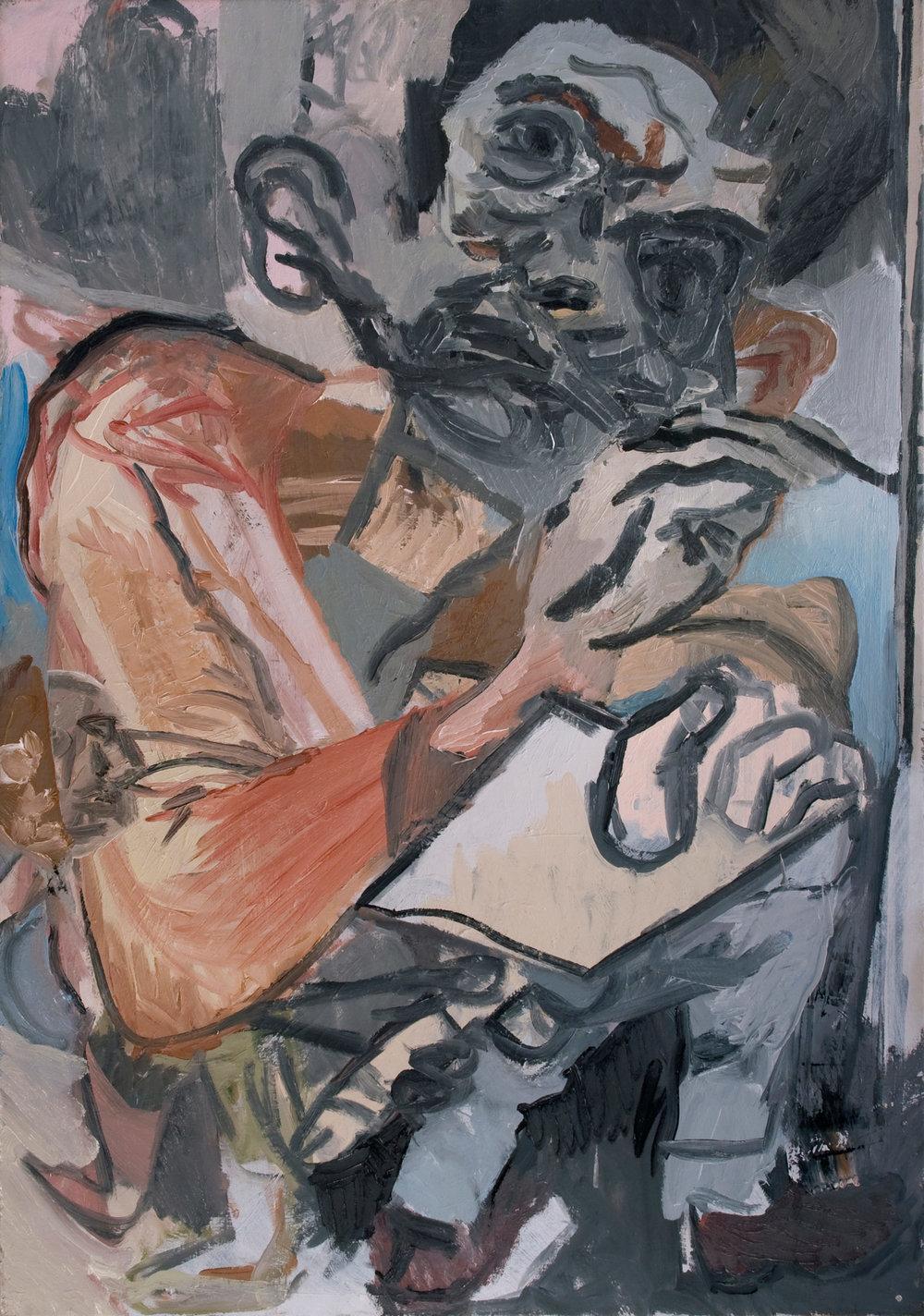 """The Idiot"" 2014   Oil on canvas. 70 x 100 cm"