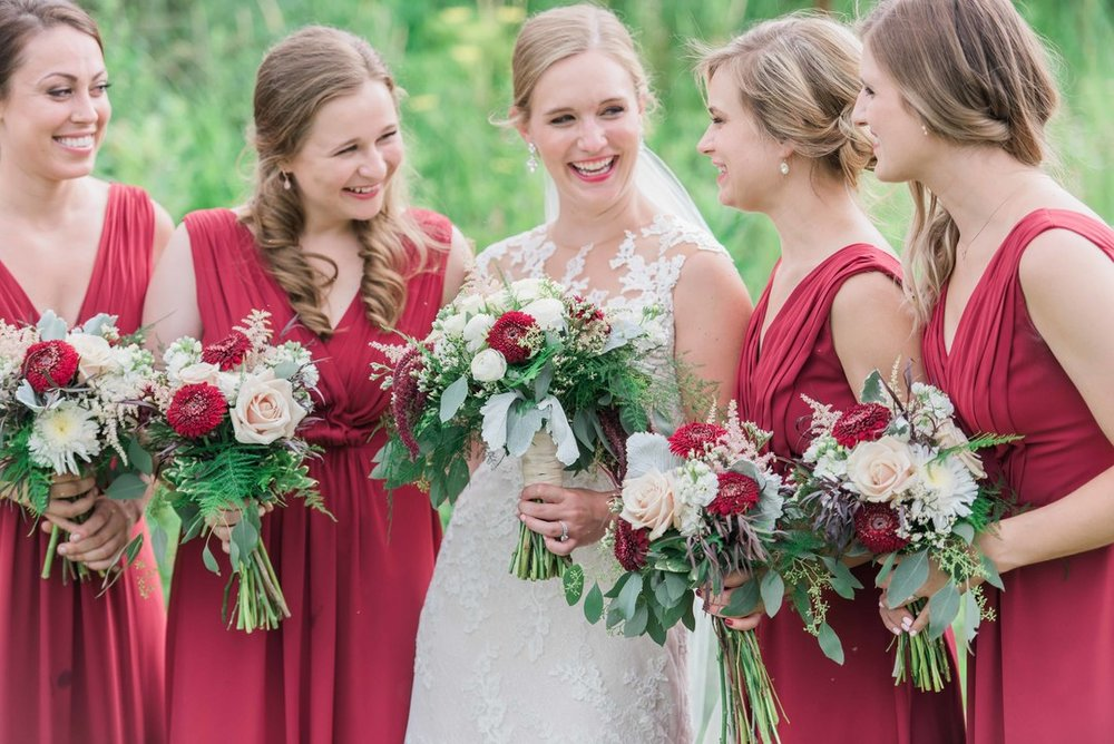 Bridal Party Bouquets by Modern Bloom