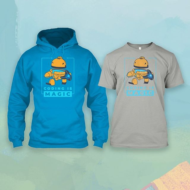 Know a programmer who loves the magic of code? Check out our comfy Coding is Magic hoodie and tee over on Teespring! 👉 https://teespring.com/stores/bot-school