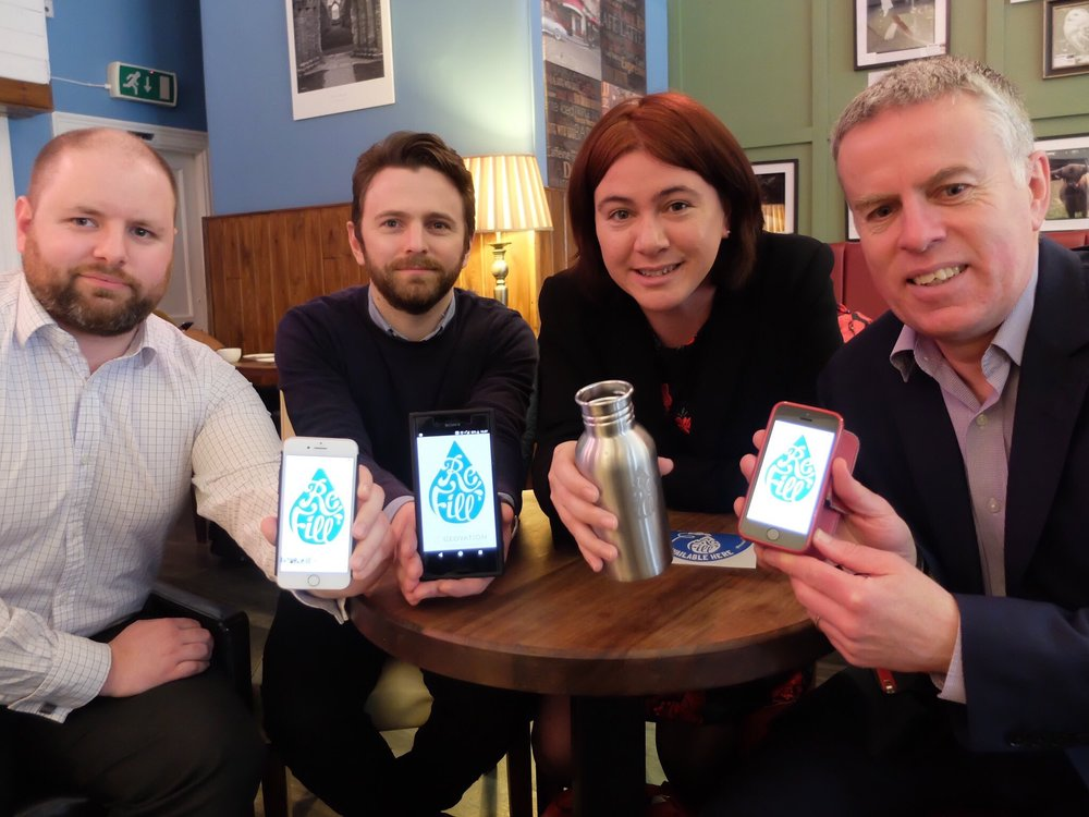 The launch of Refill Peterborough at Bewiched Coffee, with Alex Mayer, MEP