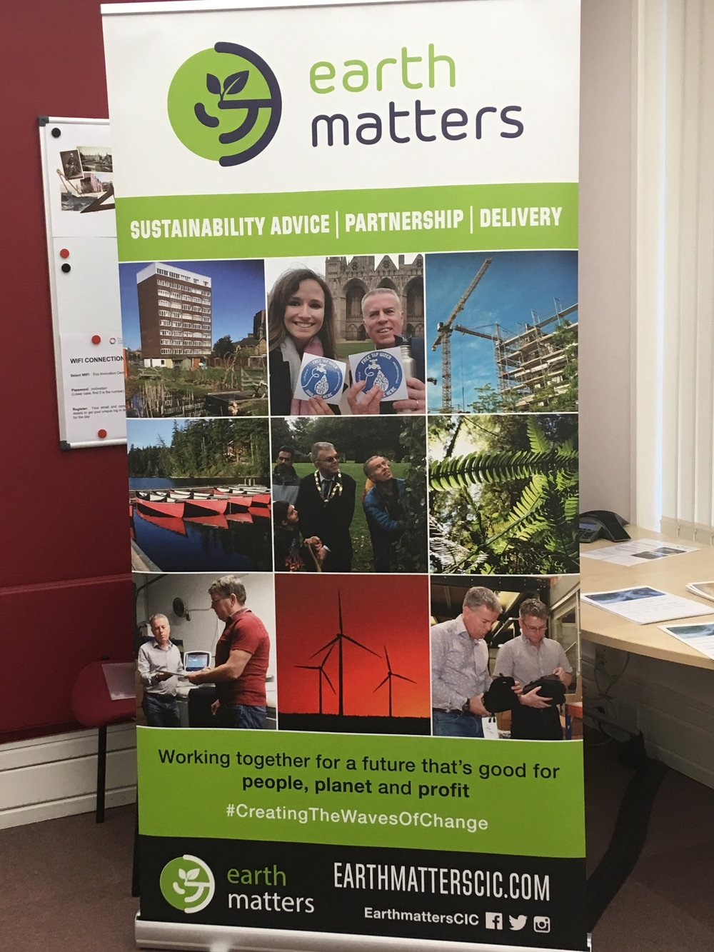 How green are your business premises? - Call Earth Matters and let us carry out our Diagnostic Test highlight opportunities for you to make savings, increase profitability, and create benefits for people and planet.Don't miss the chance to tell your story!
