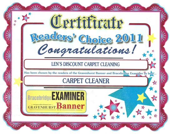 Award Winning Carpet Cleaning in Muskoka
