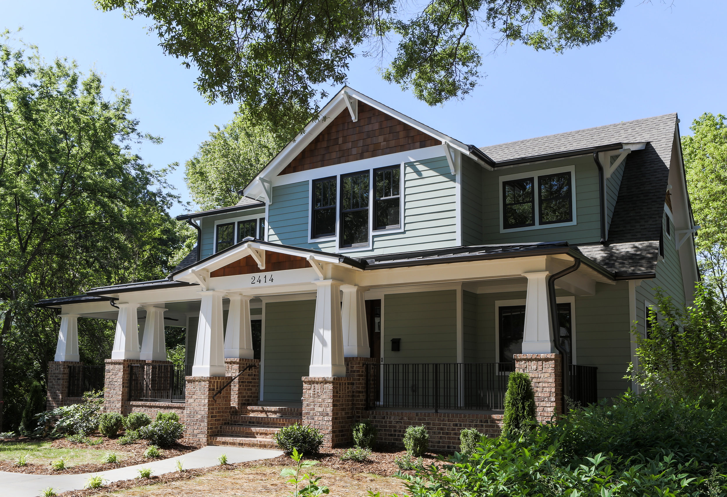 We are a custom home builder based in charlotte north carolina we specialize in new homes and large scale additions and renovations