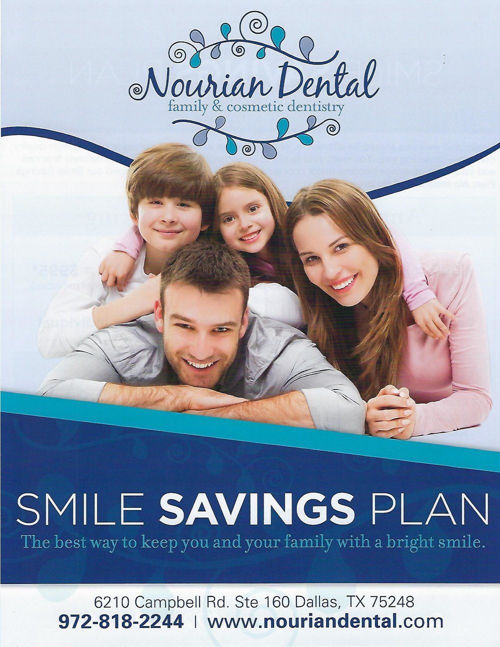 Smile Savings Plan - Low-Cost & AffordableAnnual Discount PlanNo Deductible or MaximumNo Credit CheckFor Both Children and Adults