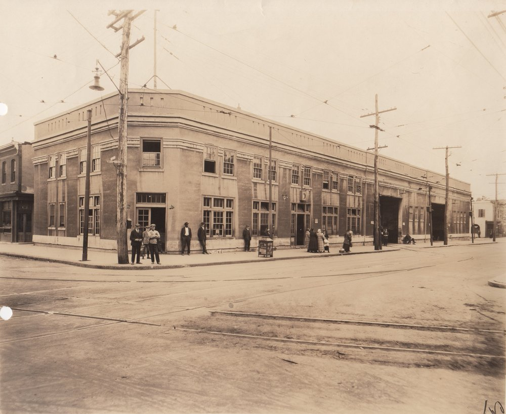 Image Credit: BSM Archives, East Lombard St Car House, 1919
