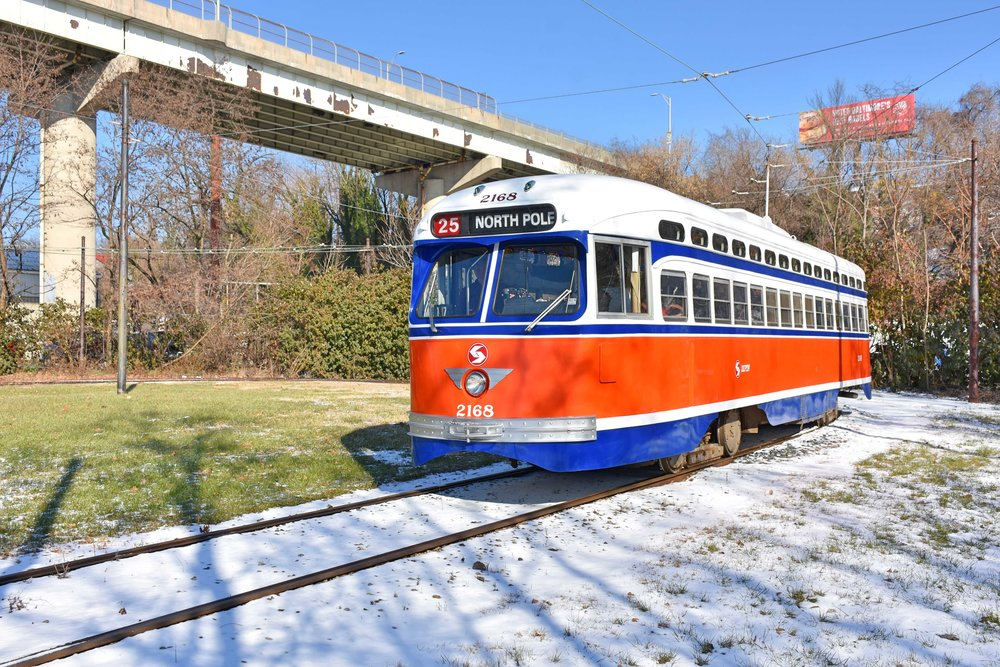 Car 2168, Ca. SEPTA 2168 seen at the Museum in the winter of 2017. Image Credit: Bill Monaghan