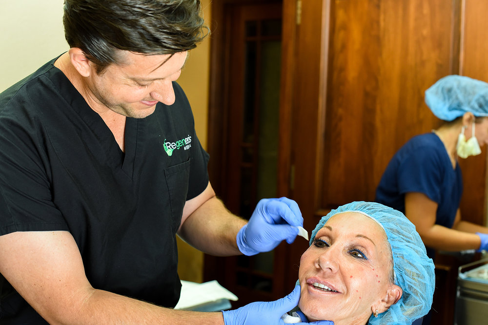 Benefits of the Regeneris Cellu-Lift Protocol over Surgical Facelift Procedures - In the past two decades, surgeons have observed and documented the long-term benefits found in transferring fat cells from one location on the body to another. The process has shown regenerative benefits for the skin and tissue in general. The fat removed from the body boasts a high number of stem cells, which contribute to the regenerative effects. At Regeneris Medical, we have been researching procedures using stem cells and PRP since 2009 for both medical and aesthetic enhancements. Advantages of Regeneris anti-aging treatments over surgical procedures include:Minimal risks associated with this protocolsYour fat is used, therefore reducing allergic reactions and tissue rejectionPerformed using local anesthesiaNo incisions, post-procedural scarring or recovery timeResults are natural and long-lastingMay be more cost-effective than surgical proceduresWith many years of experience with PRP and stem cell procedures for our patients, the doctors at Regeneris are uniquely qualified to bring your cosmetic treatments to the next level.