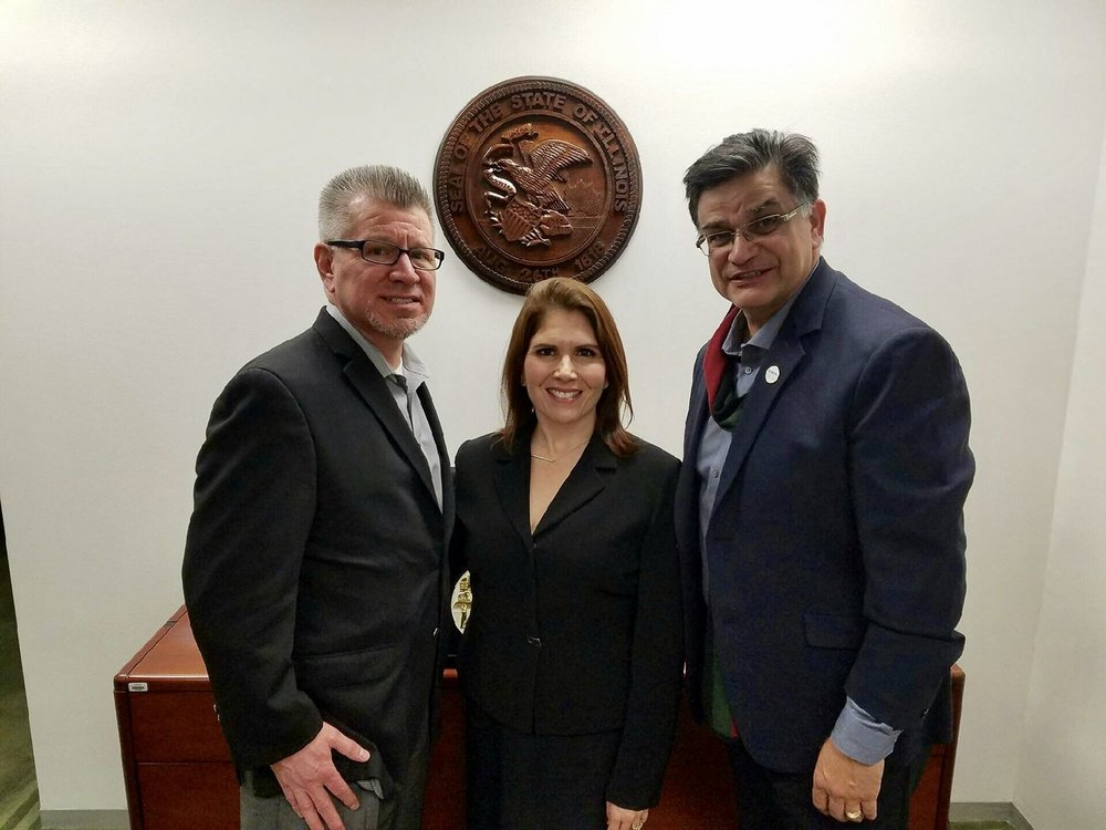 Good meeting today with the Lt Governor Evelyn Sanguinetti and Peter Aguilera.jpg