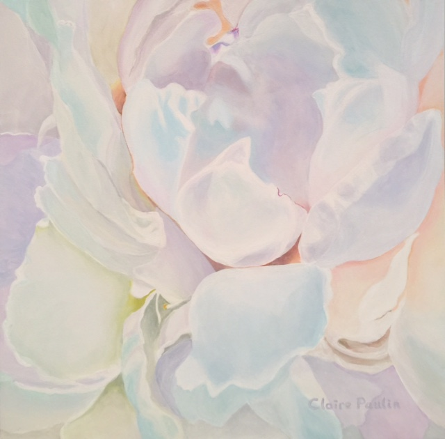 PEONIES SERIES #10   ACRYLIC ON CANVAS  36″ X 36″
