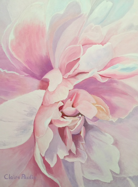 PEONIES SERIES #9   ACRYLIC ON CANVAS  40″ X 30″