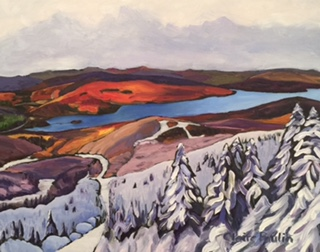 MONT TREMBLANT   OIL ON CANVAS  22″x28″