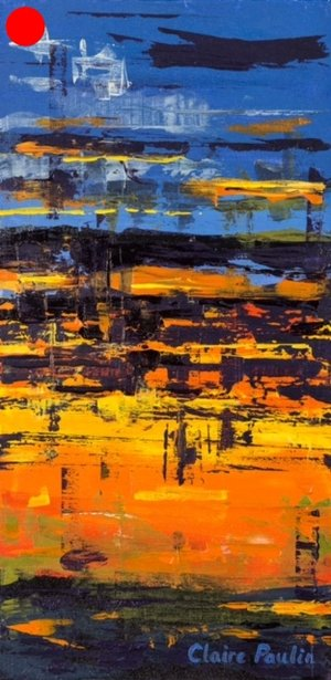 MIDNIGHT SUNSET IN THE CANADIAN ARCTIC #2   ACRYLIC ON CANVAS