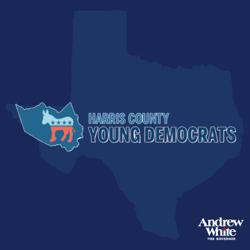 "Harris County Young Democrats    ""Andrew White impressed us with his sophisticated campaign and captivating message. He's with us on the issues and his energy and passion make for an exciting and worthy candidate to challenge the status quo.   Texas needs a change in leadership, and Andrew's message to bring common sense, sanity and reason back to state government resonates now more than ever."""
